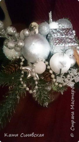 Вот такая новогодняя композиция в вазе у меня получилась) фото 4