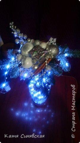 Вот такая новогодняя композиция в вазе у меня получилась) фото 2