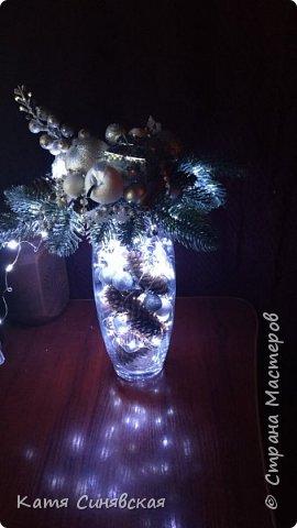 Вот такая новогодняя композиция в вазе у меня получилась) фото 7