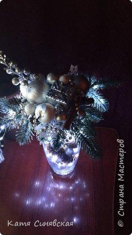 Вот такая новогодняя композиция в вазе у меня получилась) фото 8