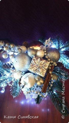 Вот такая новогодняя композиция в вазе у меня получилась) фото 9