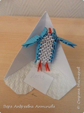 Всем доброго дня! Этот год- 2020 объявлен  Годом Антарктиды, в честь 200-летнего юбилея  открытия Антарктиды.  Мои ребятки обожают мультик про пингвинов, вот мы и решили сделать пингвинчиков в технике модульное оригами.Результат перед вами.)))) фото 5