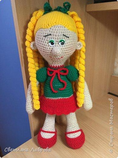 Вязанная кукла-Глаша