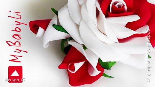 Бутон розы 🌹 своими руками из фоамирана 🌹