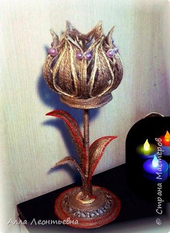 Светильник из шпагата фото 5
