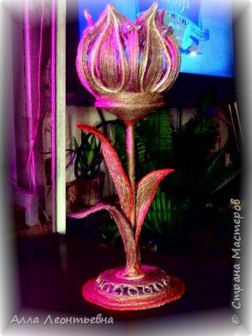 Светильник из шпагата фото 6