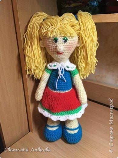 Вязаная кукла-Люся