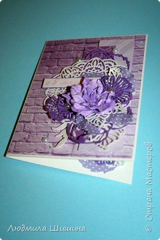 Здравствуйте! Мои открыточки. Некоторые открытки повторяла с курсов Анны Валерьевны Демаковой. Еще вдохновлялась работами Ирины( Голубка). фото 2