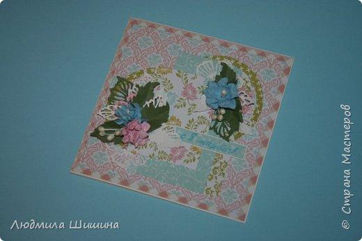 Здравствуйте! Мои открыточки. Некоторые открытки повторяла с курсов Анны Валерьевны Демаковой. Еще вдохновлялась работами Ирины( Голубка). фото 6
