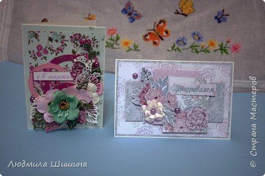 Здравствуйте! Мои открыточки. Некоторые открытки повторяла с курсов Анны Валерьевны Демаковой. Еще вдохновлялась работами Ирины( Голубка). фото 7