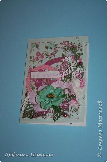 Здравствуйте! Мои открыточки. Некоторые открытки повторяла с курсов Анны Валерьевны Демаковой. Еще вдохновлялась работами Ирины( Голубка). фото 8