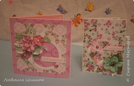 Здравствуйте! Мои открыточки. Некоторые открытки повторяла с курсов Анны Валерьевны Демаковой. Еще вдохновлялась работами Ирины( Голубка). фото 10