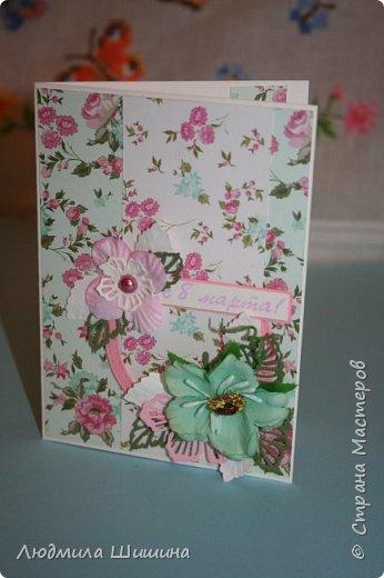 Здравствуйте! Мои открыточки. Некоторые открытки повторяла с курсов Анны Валерьевны Демаковой. Еще вдохновлялась работами Ирины( Голубка). фото 12