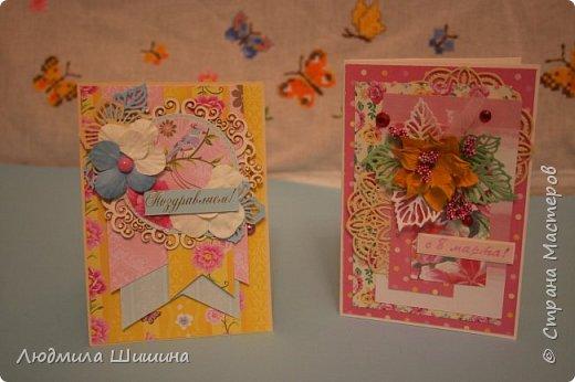 Здравствуйте! Мои открыточки. Некоторые открытки повторяла с курсов Анны Валерьевны Демаковой. Еще вдохновлялась работами Ирины( Голубка). фото 13