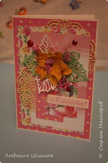 Здравствуйте! Мои открыточки. Некоторые открытки повторяла с курсов Анны Валерьевны Демаковой. Еще вдохновлялась работами Ирины( Голубка). фото 15