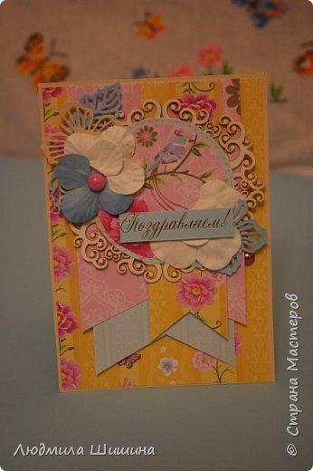 Здравствуйте! Мои открыточки. Некоторые открытки повторяла с курсов Анны Валерьевны Демаковой. Еще вдохновлялась работами Ирины( Голубка). фото 14