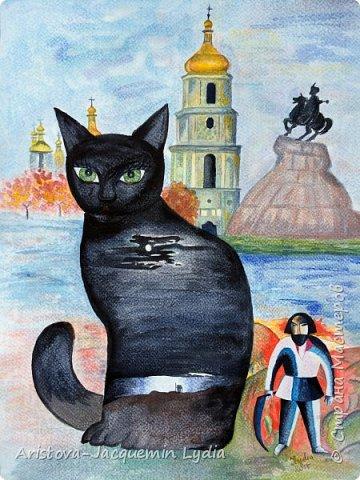 Акварель. Кошки фото 12