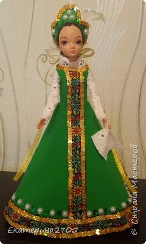 Кукла предназначена в уголок России средней группы в детском саду. фото 1