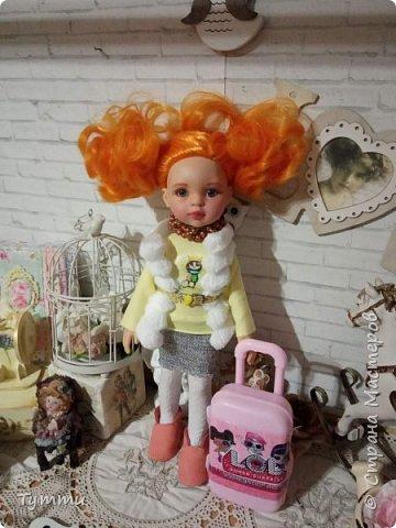 Представляю вам новую куколку по новой выкройке ростиком аж 38см,пока не пойму нравится мне она или нет.... фото 3
