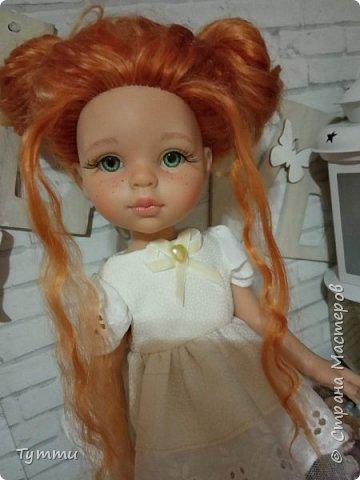 Представляю вам новую куколку по новой выкройке ростиком аж 38см,пока не пойму нравится мне она или нет.... фото 19