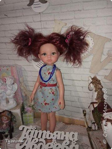 Представляю вам новую куколку по новой выкройке ростиком аж 38см,пока не пойму нравится мне она или нет.... фото 5