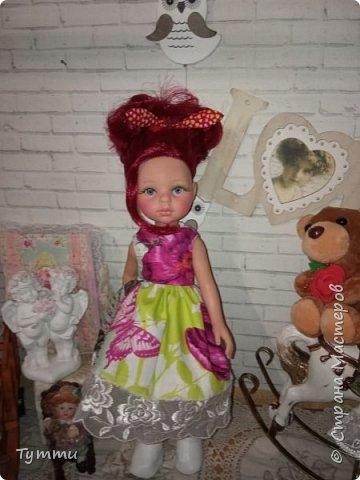 Представляю вам новую куколку по новой выкройке ростиком аж 38см,пока не пойму нравится мне она или нет.... фото 11