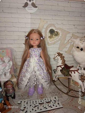 Представляю вам новую куколку по новой выкройке ростиком аж 38см,пока не пойму нравится мне она или нет.... фото 7