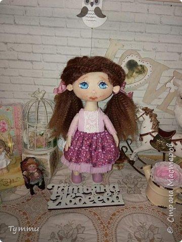 Представляю вам новую куколку по новой выкройке ростиком аж 38см,пока не пойму нравится мне она или нет....