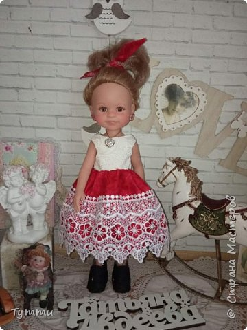 Представляю вам новую куколку по новой выкройке ростиком аж 38см,пока не пойму нравится мне она или нет.... фото 14
