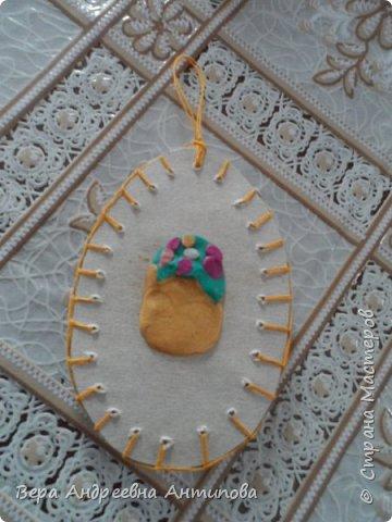 Всем доброго дня! Вот такая пасхальная композиция получилась у нас с внучкой.Всех с Пасхой! Мира и радости вам! Веточки вербы настоящие, яички из картона и подручного материала.))))И цыпленок из бумаги.  фото 7