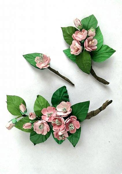 Веточка цветущей яблони. фото 19