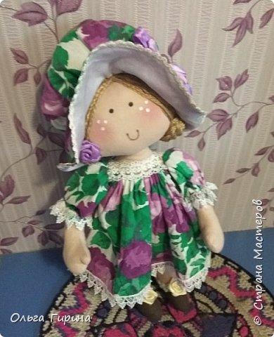 Привет всем,опять я пропадала,но не бездельничала,нашила кукол ,они уже все благополучно раздарены:-)Сшила куклу по мотивам аргентинских кукол. фото 1