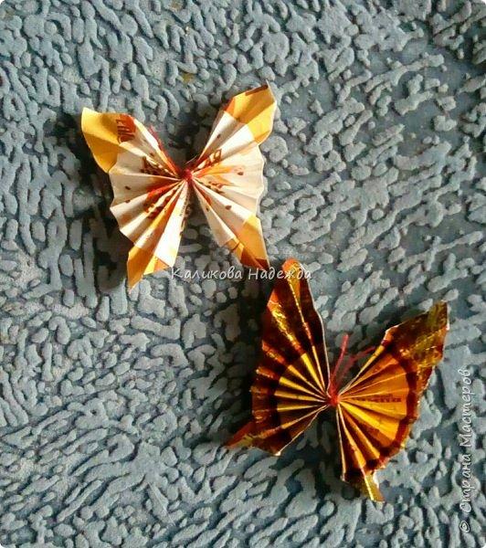 На просторах интернета наткнулась на симпатичных бабочек, которые делаются просто, но смотрятся оригинально. Попробуем сделать? фото 1