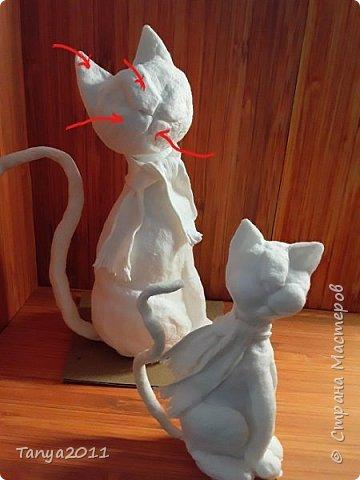 Добрый вечер, мастера и мастерицы! У меня - ватные котейки. Конечно. сейчас очень много МК по ватной игрушке. Но может кому-то пригодится. Увидел фото   в интернете - сделал копию из ваты. фото 31