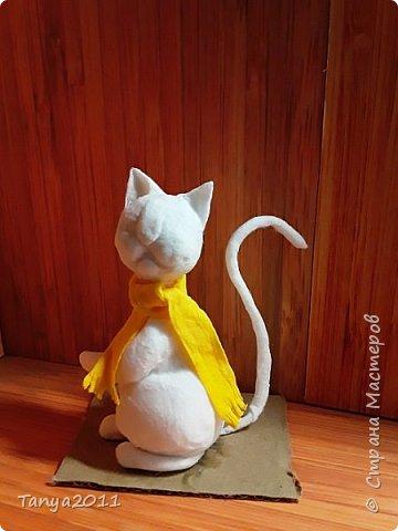 Добрый вечер, мастера и мастерицы! У меня - ватные котейки. Конечно. сейчас очень много МК по ватной игрушке. Но может кому-то пригодится. Увидел фото   в интернете - сделал копию из ваты. фото 78
