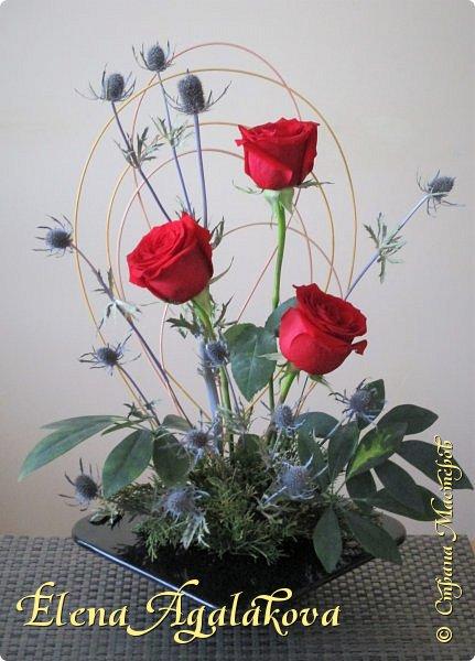 Добрый день! У нас в Калгари в этом году весна вступает в свои права очень медленно... поэтому особенно хочется цветов и красок! Я уже третий год занимаюсь цветочным дизайном. Очень люблю цветы, травки-муравки, деревья и вообще все растения. Очень увлекательно работать с цветами! Дома делаю оранжировки из того что под рукой, беру цветы которые найду, даже полевые и из своего садика. Начали появляться первые цветы в моем садике, чему я очень рада, поэтому в композициях можно увидеть и медуницу и примулы и даже пролески...  разные веточки, травинки... использую в основном цветы из цветочного магазина где работаю. Делюсь красотой!   фото 20
