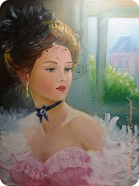 Мое новое увлечение- портреты маслом. Я ещё учусь, поэтому не все идеально, как хотелось бы. Эта работа выполнена маслом на холсте 30*40см.