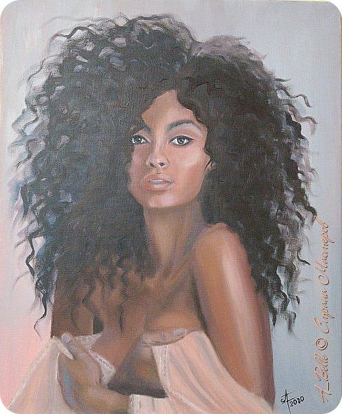 Приветствую, друзья. Вот ещё одна работа с курса портретов маслом. Моя мулатка-тропиканка, страстная и дикая... Обязательно оформлю ее в красивую раму и повешу в спальне)))