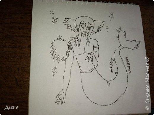 Всем привет!  Моё новое увлечение это рисование по новеллам и манге (восточные комиксы) :-) Участвовала в одном флэшмобе и решила нарисовать этого персонажа в роли русалки, хотя по жизни он человек (герой манги)  Ниджимасу Нанайро фото 4