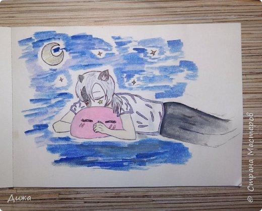 Всем привет!  Моё новое увлечение это рисование по новеллам и манге (восточные комиксы) :-) Участвовала в одном флэшмобе и решила нарисовать этого персонажа в роли русалки, хотя по жизни он человек (герой манги)  Ниджимасу Нанайро фото 5
