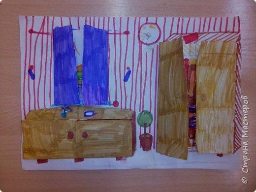 Рисунок с открывающимися дверками очень интересен в творчестве детям. Он позволяет проявить воображение и вкусовые дизайнерские особенности. Для работы необходимы: Бумага, Клей, Ножницы, Карандаши, Фломастеры. фото 7