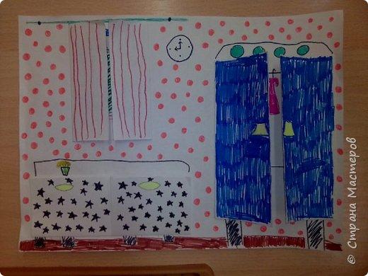 Рисунок с открывающимися дверками очень интересен в творчестве детям. Он позволяет проявить воображение и вкусовые дизайнерские особенности. Для работы необходимы: Бумага, Клей, Ножницы, Карандаши, Фломастеры. фото 5