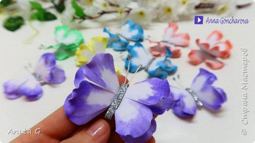 Пышные Бабочки из фоамирана