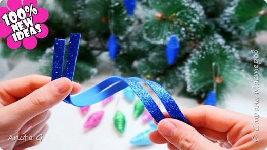 Игрушки на елку за 1 минуту Новогодние поделки из фоамирана