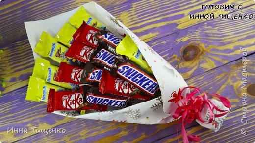 Как сделать букет из конфет за 15 минут. своими руками