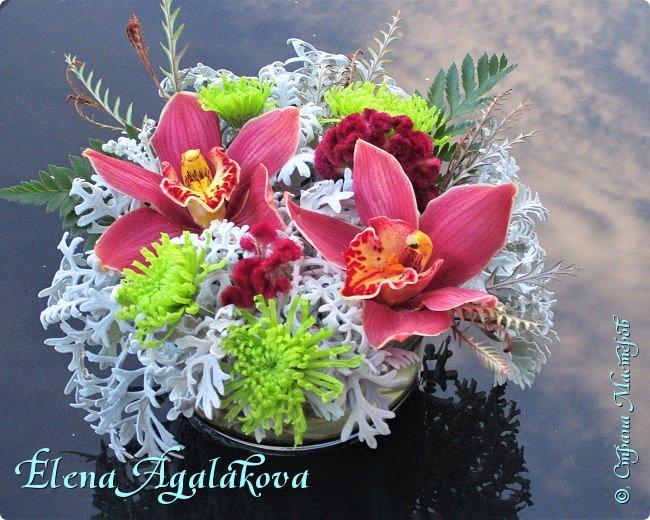 Добрый день! С наступающим Новым годом и Рождеством!  Сегодня я к вам снова с композициями из живых цветов, на этот раз новогодними. фото 10