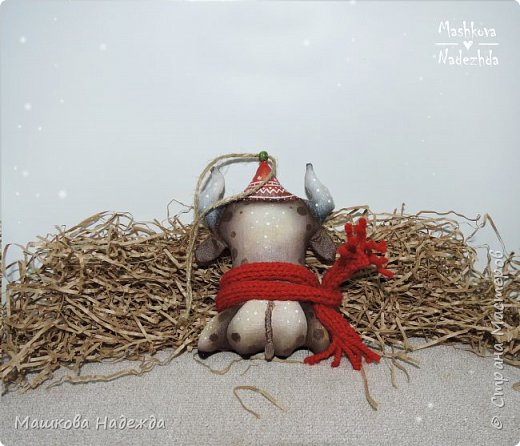 Набор ёлочных игрушек: Символ уходящего года - Крыса, Символ наступающего года - Бык и вечный новогодний символ - Ёлка фото 7