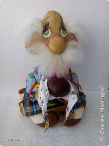 Я думаю, что пополнила коллекцию рукодельниц, выполнивших  таких вот домовят, автором которого является мастер кукол в технике грунтованный текстиль  Анастасия Голенева.