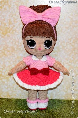 Куколка Лол с набором одежды (связана крючком)