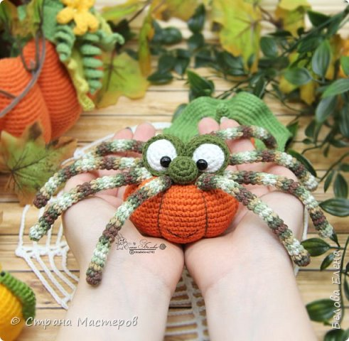 "Видео мастер-класс ""Паучок Pumpkin"" (крючком)"